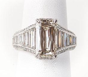 The Jewel - Christopher Designs - Lookbook - Rectangle Diamond Ring