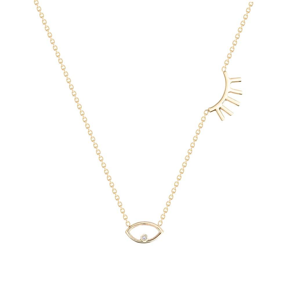 The Jewel - Hortense - Lookbook - Gold Eye Necklace