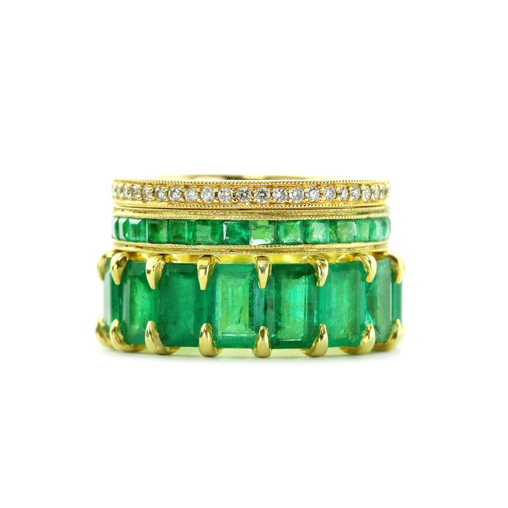 The Jewel - Ila - Lookbook - Emerald Studded Gold Rings