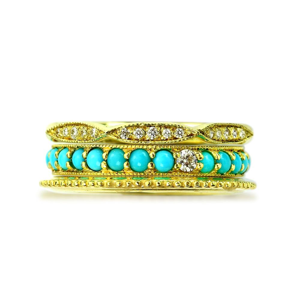 The Jewel - Ila - Lookbook - Gold Blue Rings