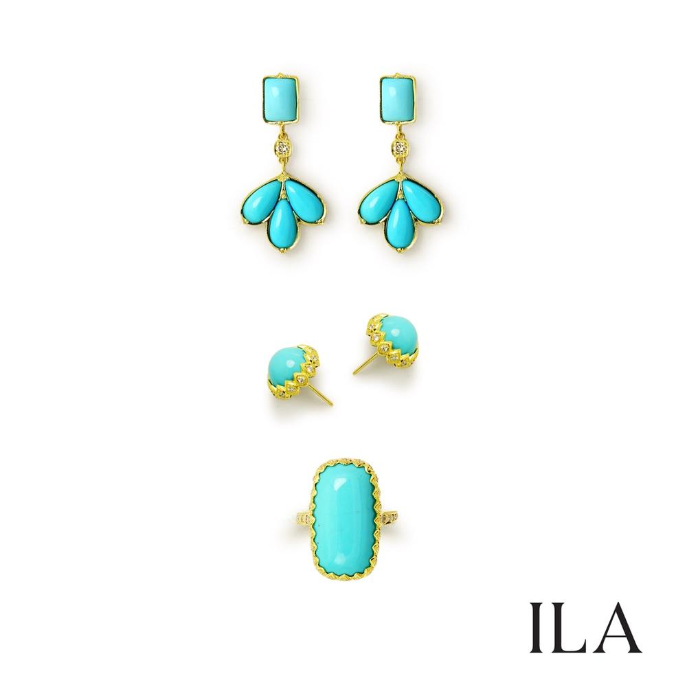 The Jewel - Ila - Lookbook - Gold and Blue Set