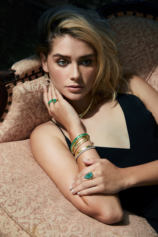 The Jewel - Ila - Lookbook - Gold Green Jewelry Collection