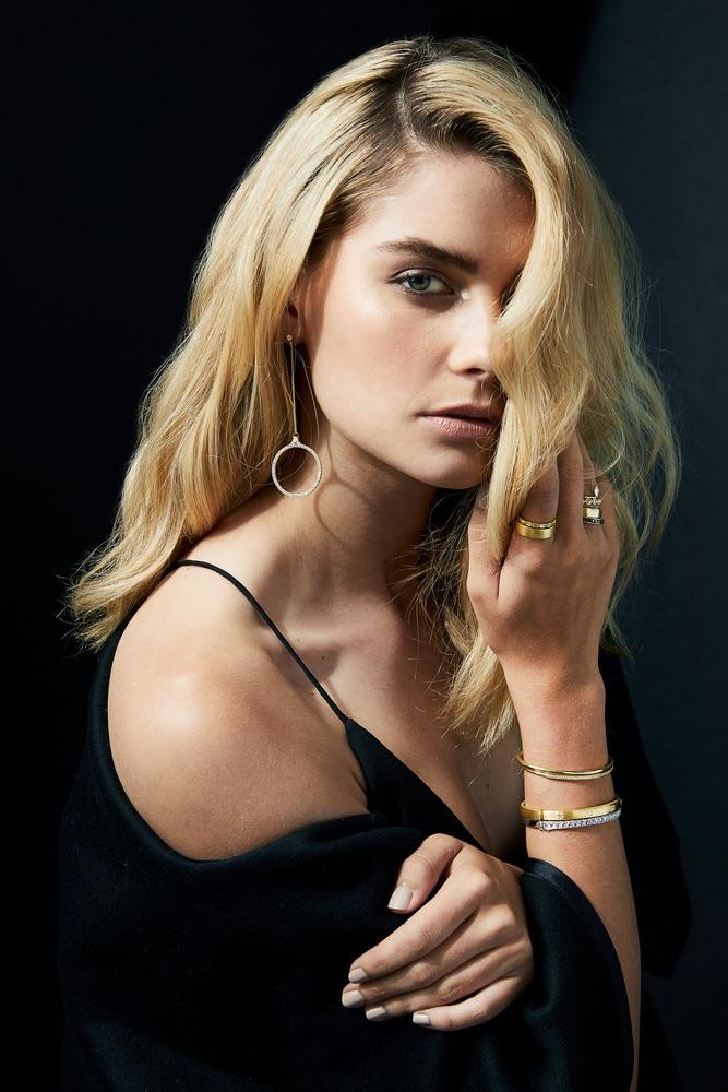 The Jewel - Ila - Lookbook - Silver Drop Earrings Gold Bracelets and Rings