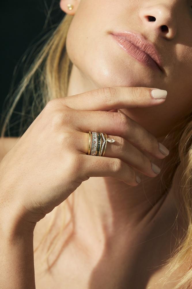 The Jewel - Ila - Lookbook - Gold Silver Diamond Rings