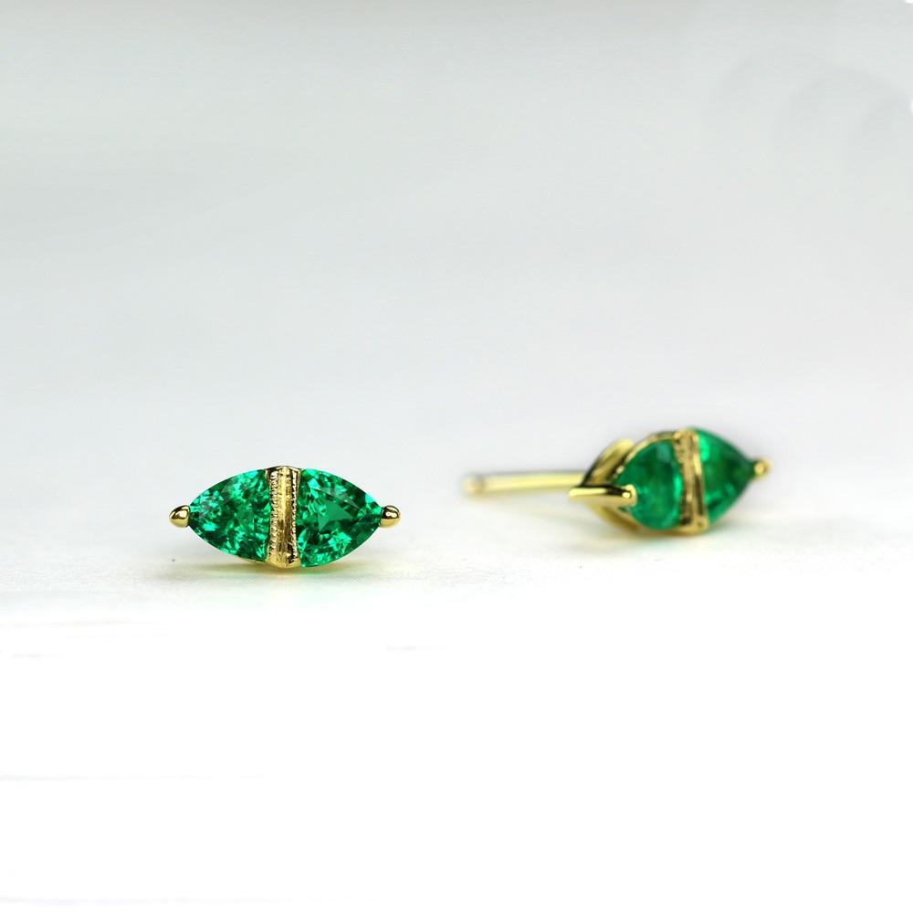 The Jewel - Ila - Emerald Earrings