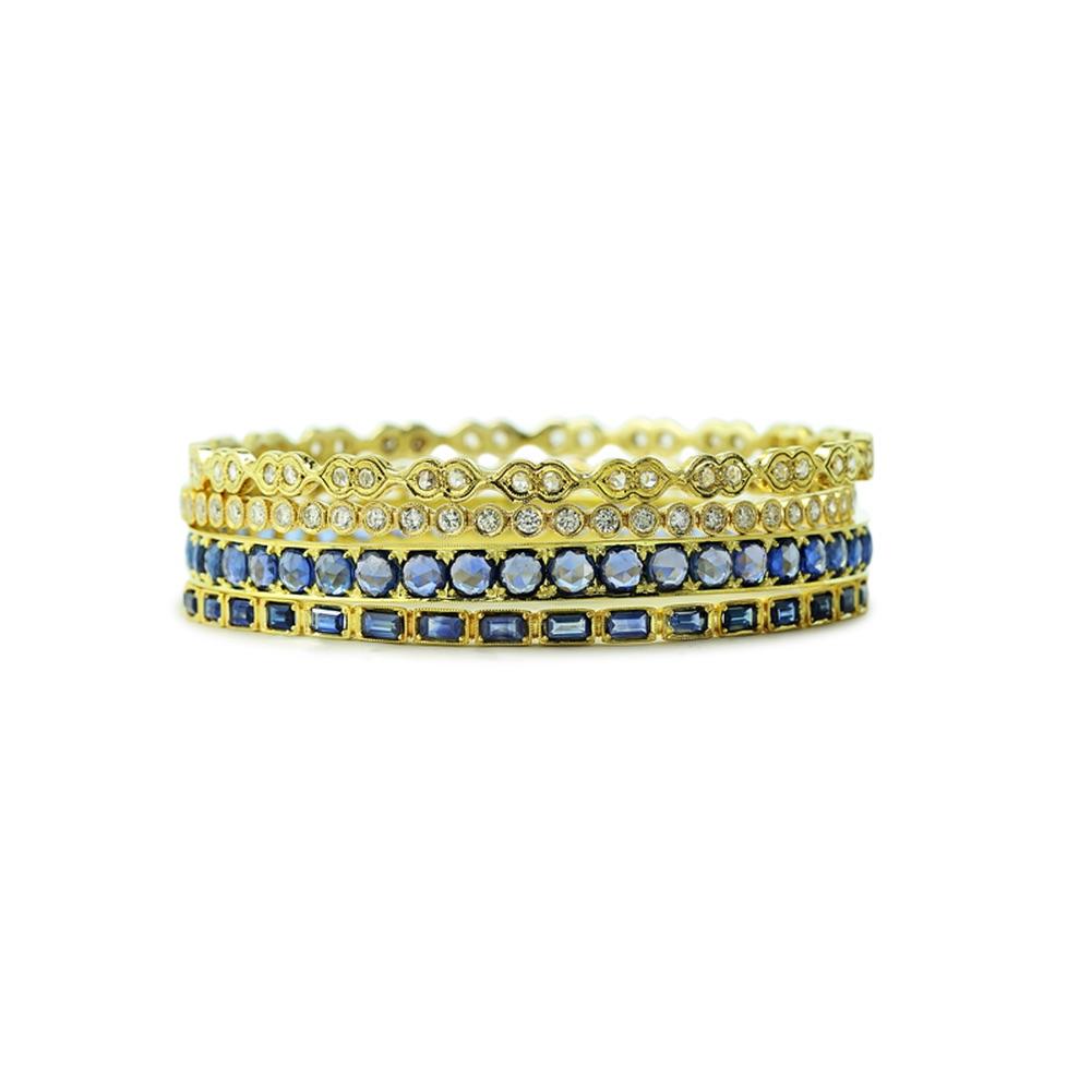 The Jewel - Ila - Lookbook - Gold Sapphire Studded Rings