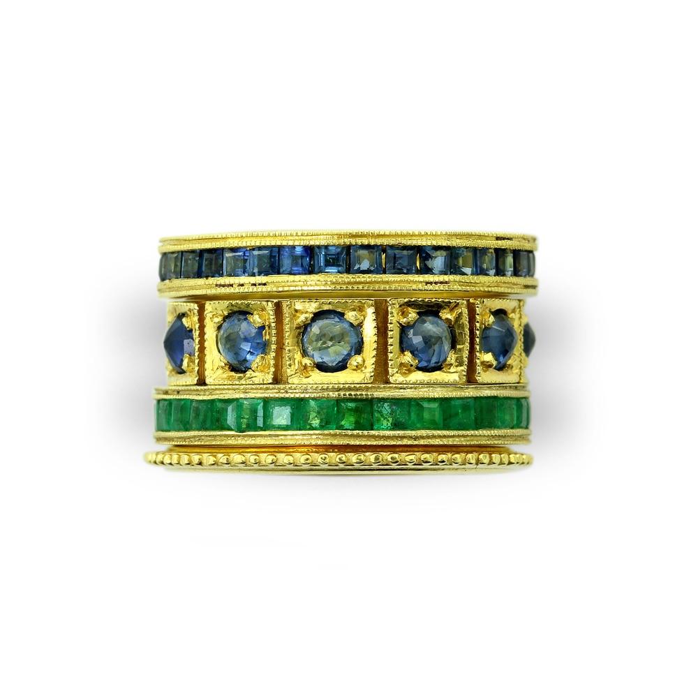 The Jewel - Ila - Lookbook - Sapphire and Emerald Rings