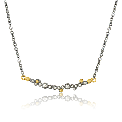 The Jewel - Lika Behar - Lookbook - Gray and Gold Necklace