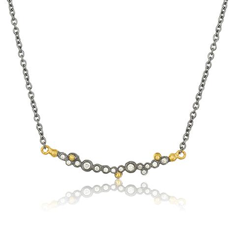The Jewel - Lika Behar - Lookbook - Gray and Gold Necklace