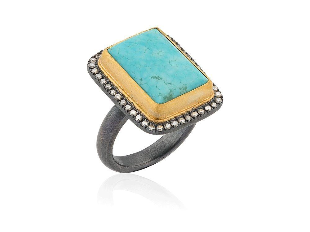 The Jewel - Lika Behar - Lookbook - Gold Gray Blue RIng