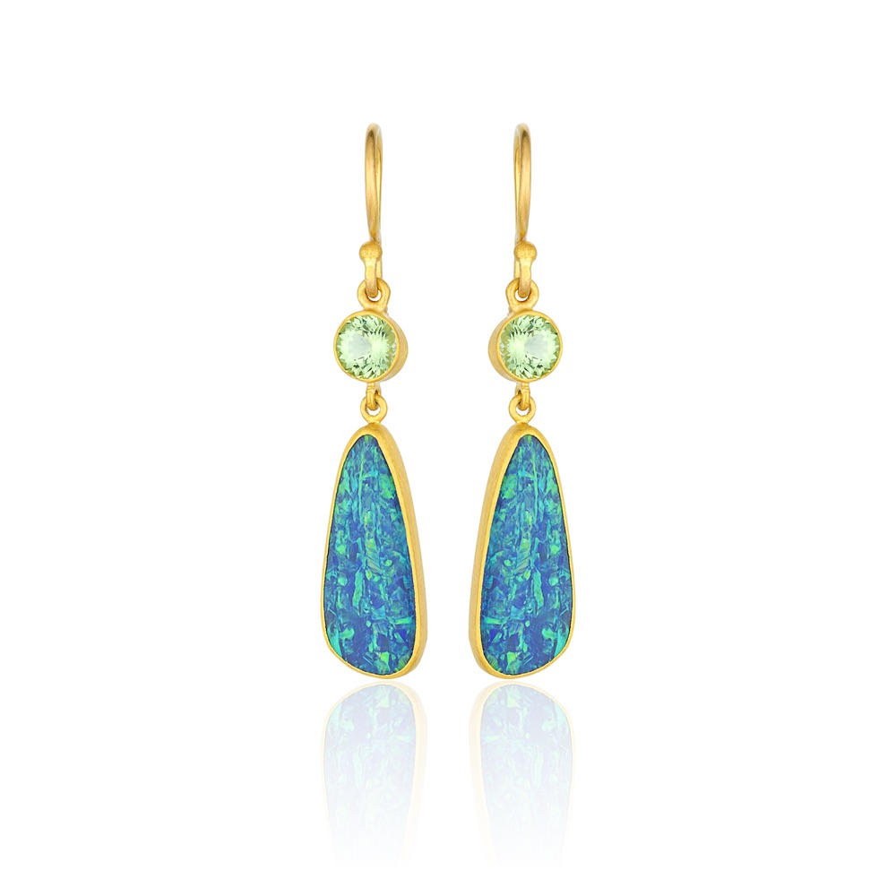 The Jewel - Lika Behar - Lookbook - Blue Green Gold Earrings