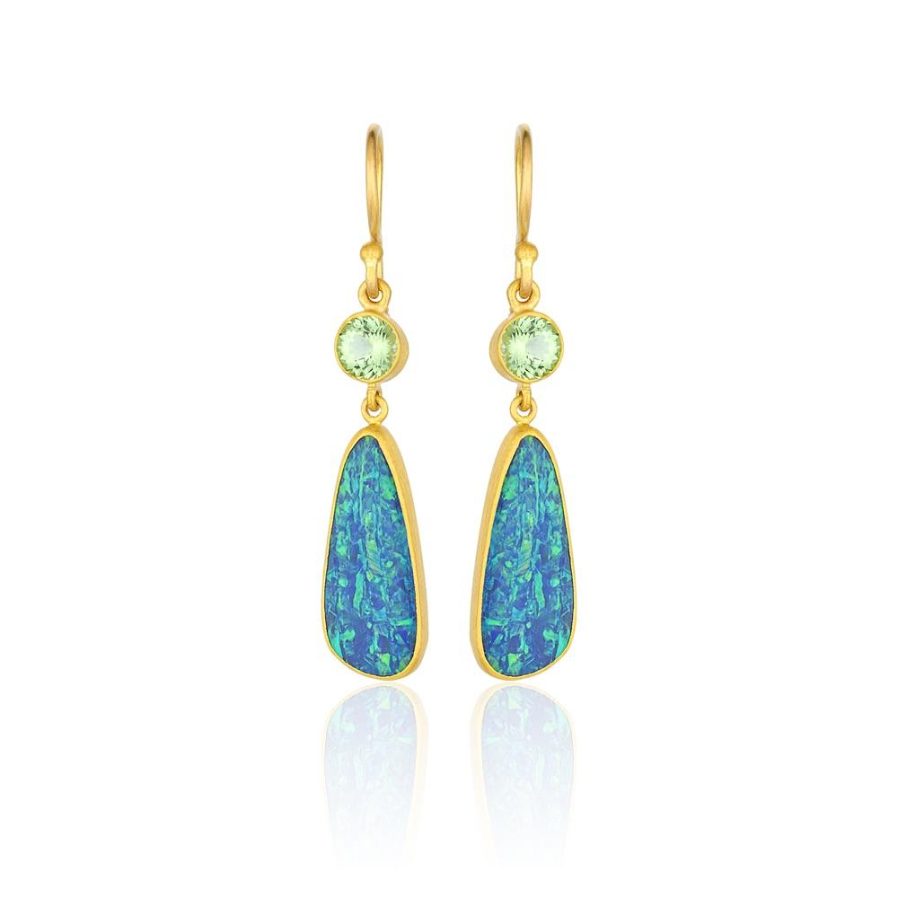 The Jewel - Lika Behar - Lookbook - Blue Green Gold Earrings