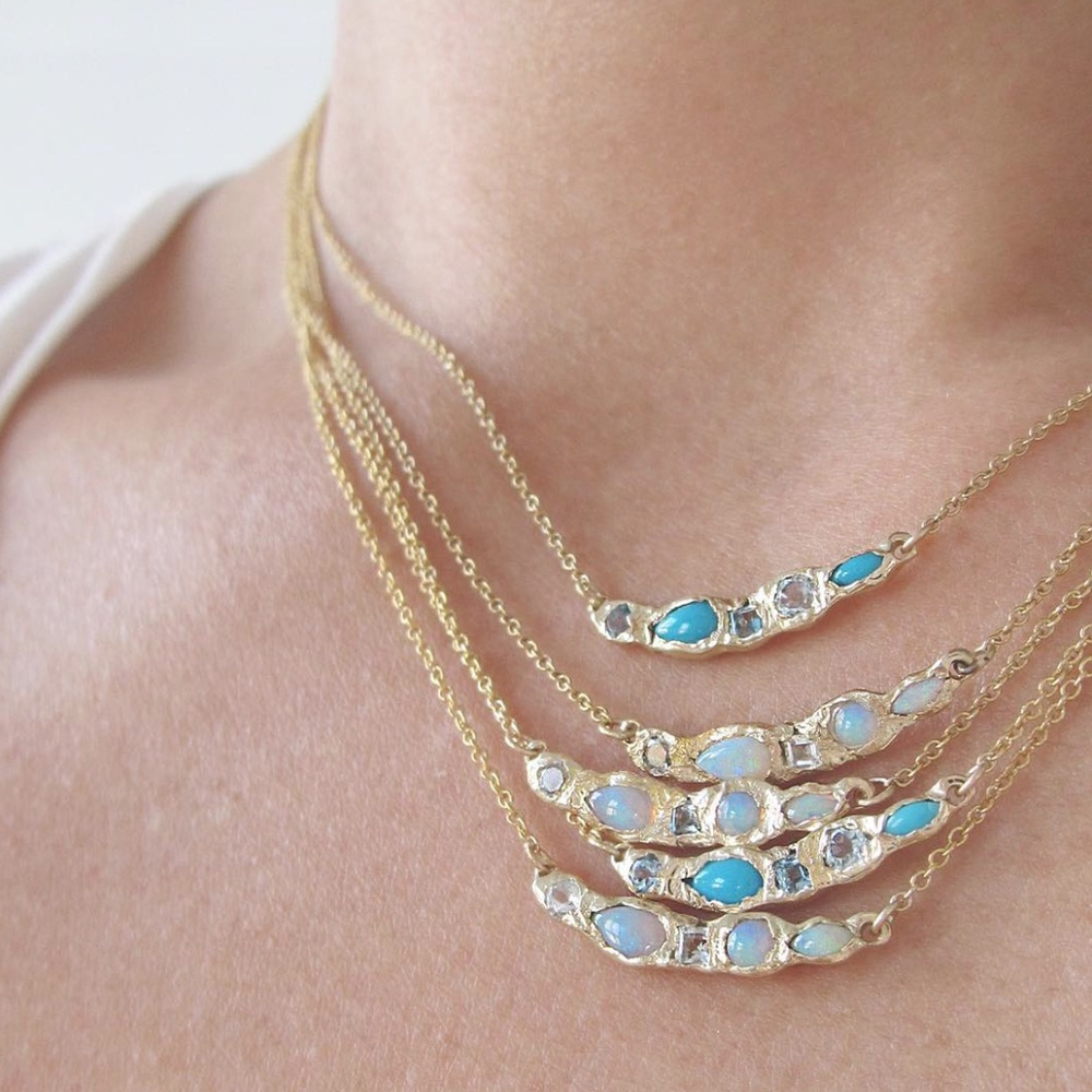 The Jewel - Misa - Lookbook - Gold Blue Necklaces