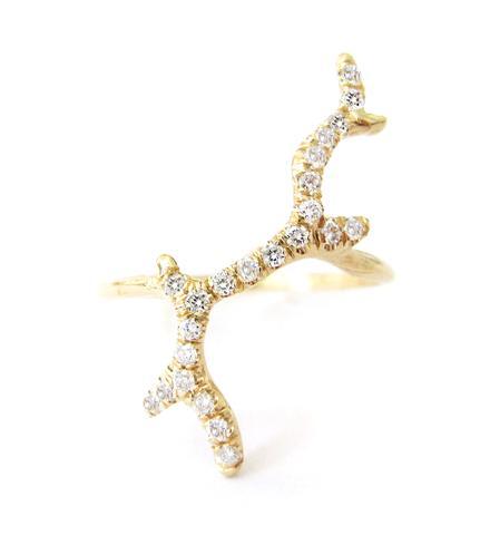 The Jewel - Misa - Lookbook - Gold Branch Ring