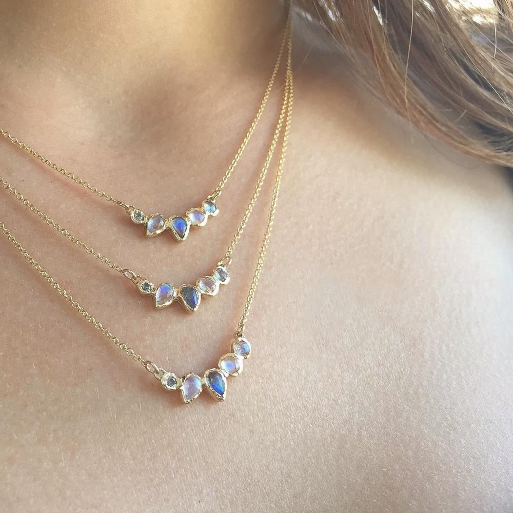 The Jewel - Misa - Lookbook - Gold Iridescent Necklaces