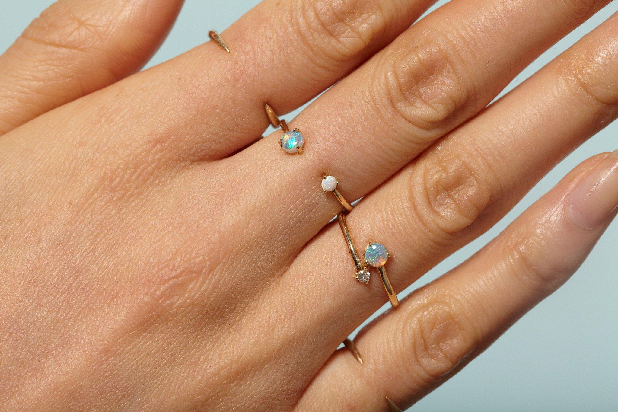 The Jewel - wwake - Lookbook - Gold Blue Necklace
