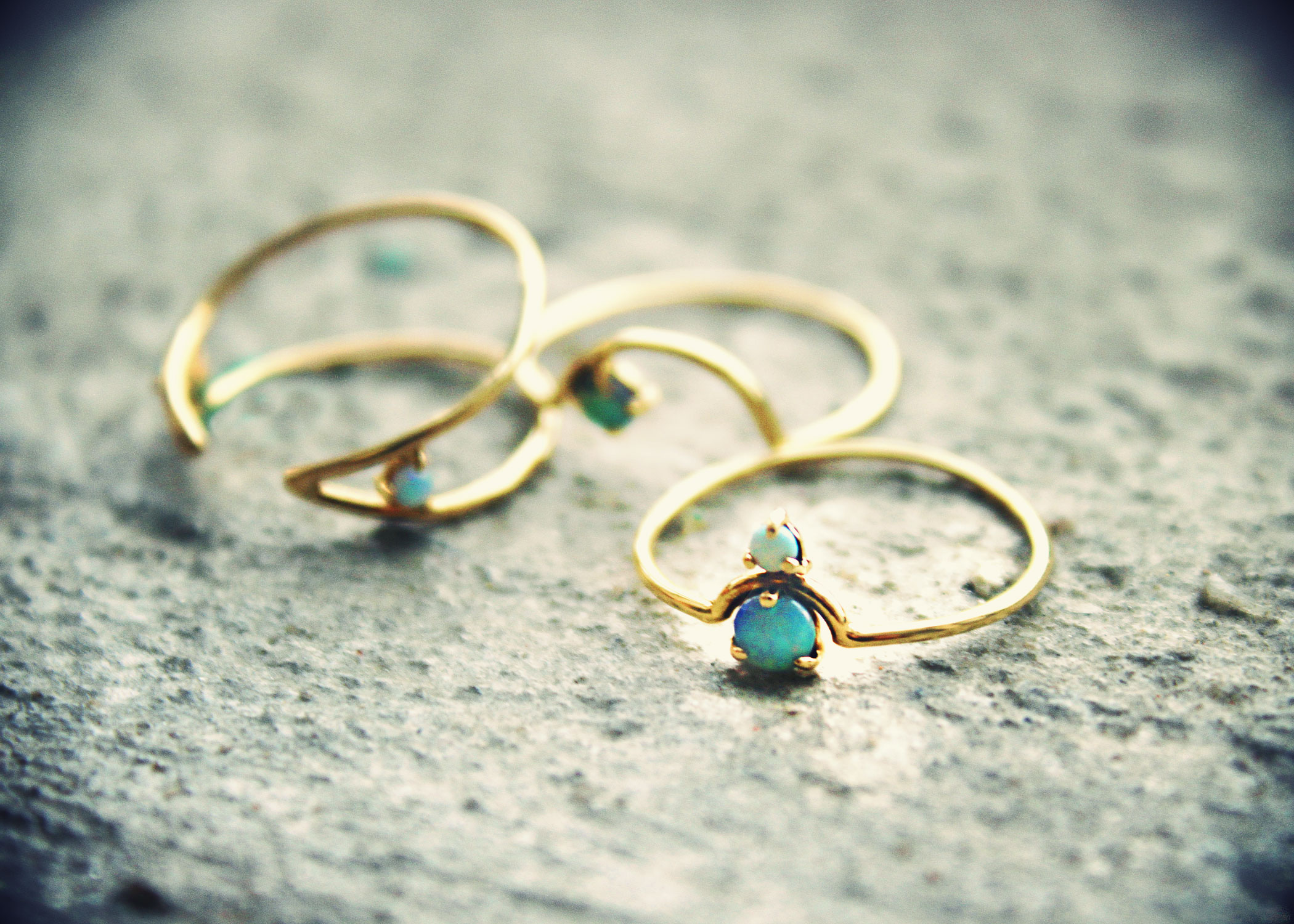 The Jewel - wwake - Lookbook - Gold Blue Rings