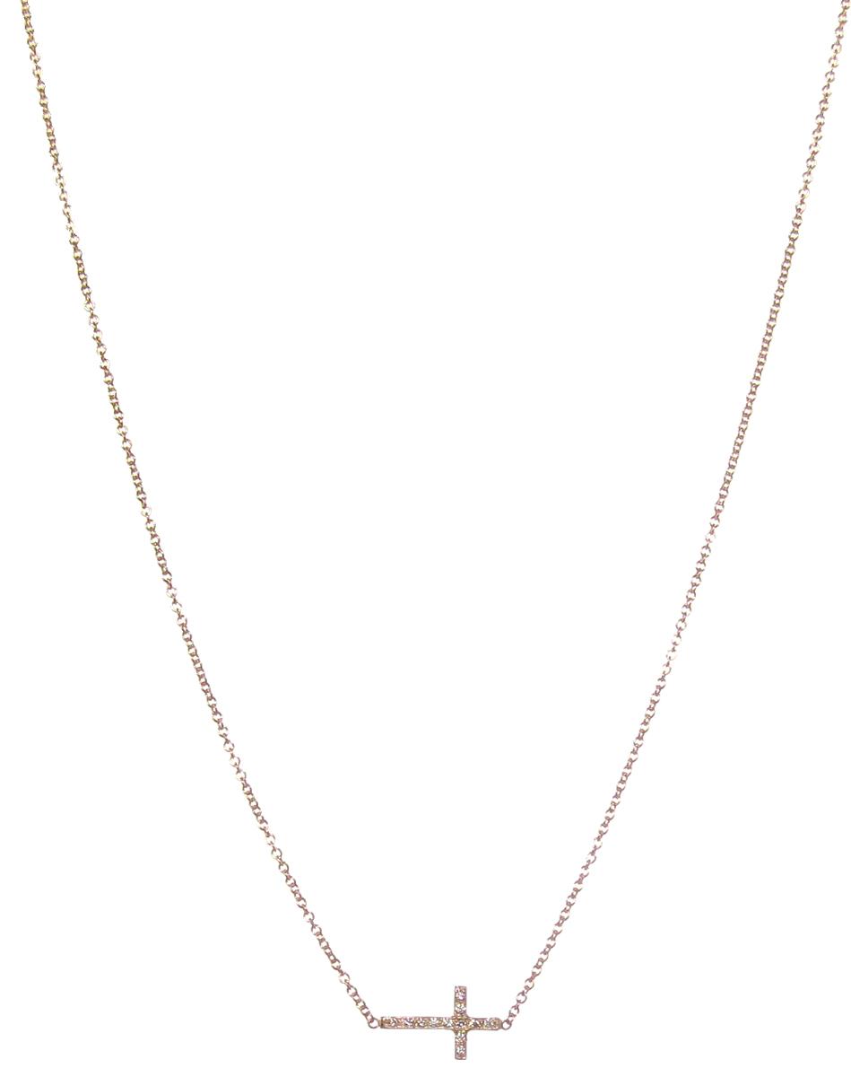 The Jewel - Zoe Chicco - Lookbook - Gold Cross Necklace