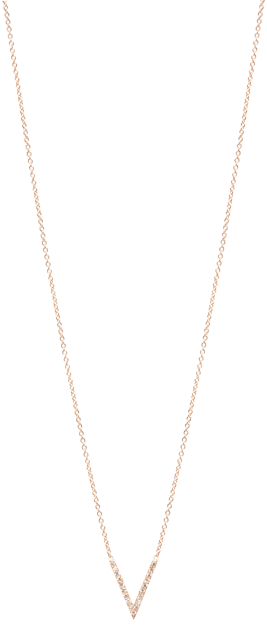The Jewel - Zoe Chicco - Lookbook - Gold V Necklace