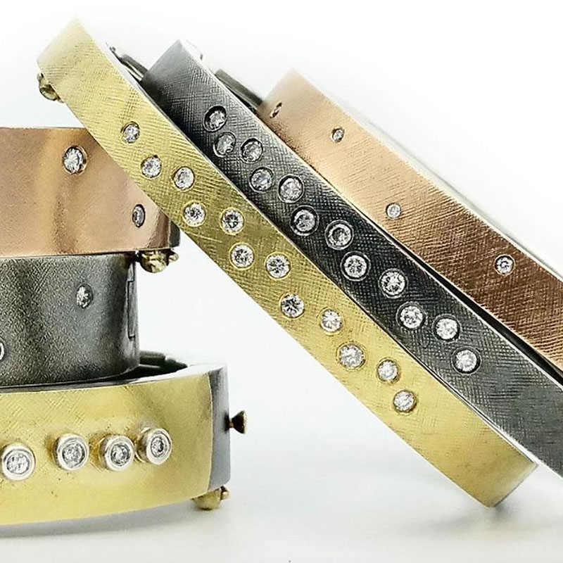 The Jewel - Rene Escobar - Lookbook - Gold Silver Bronze Bangles