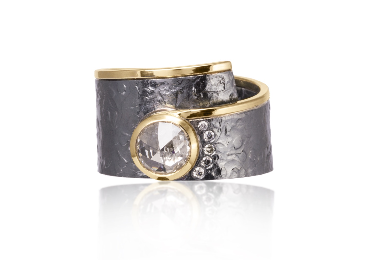 The Jewel - Elizabeth Garvin - Lookbook - Gray, Silver and Gold Wrap Ring