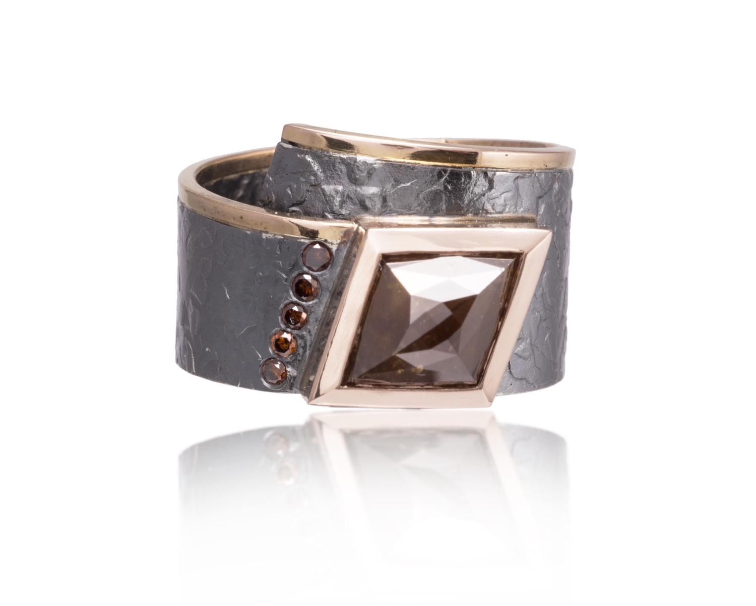 The Jewel - Elizabeth Garvin - Lookbook - Gray and Bronze Studded Wrap Ring