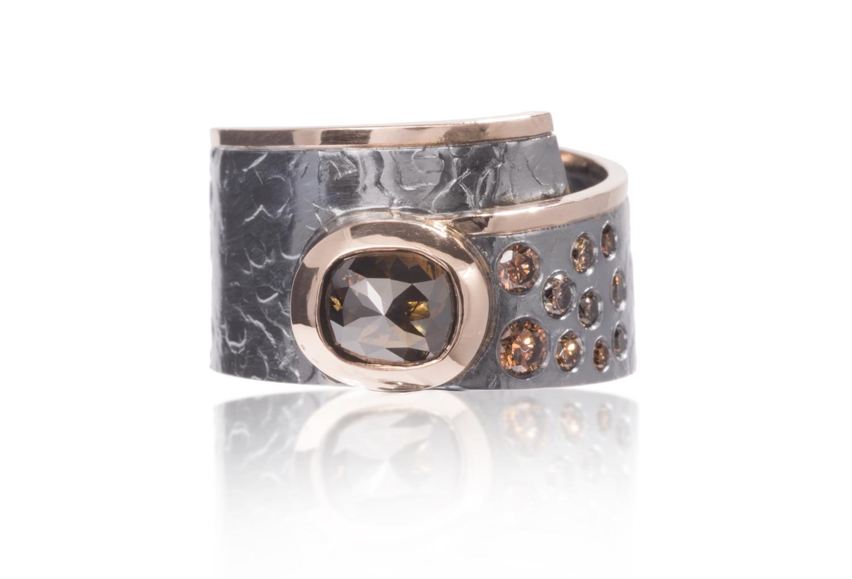 The Jewel - Elizabeth Garvin - Lookbook - Gray and Bronze Wrap Ring