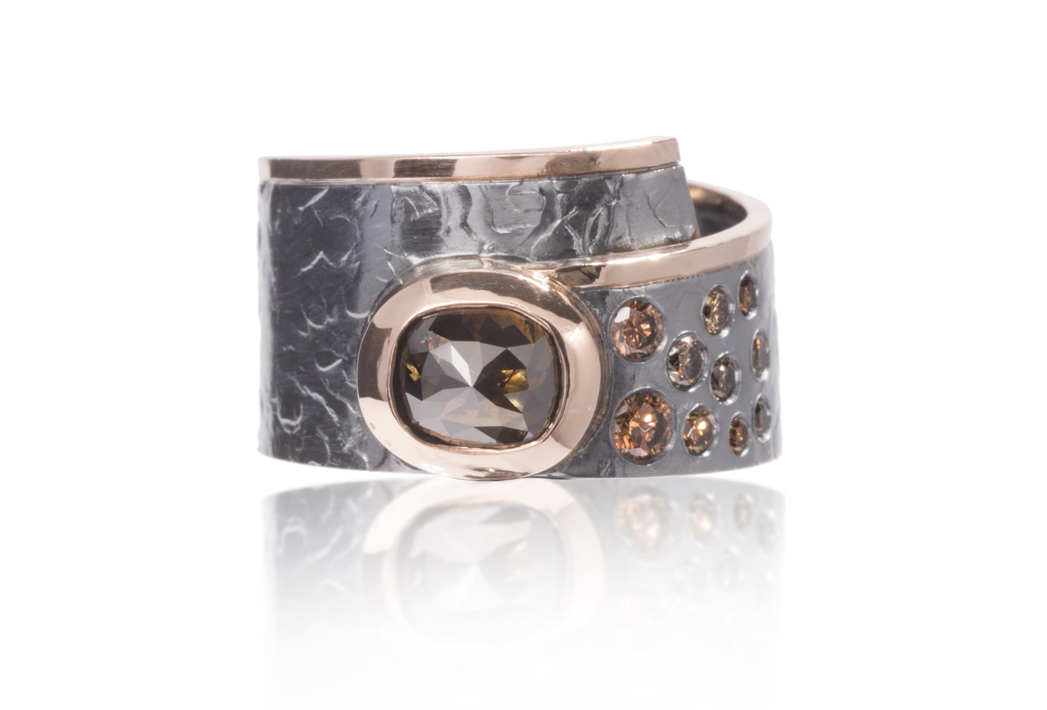 The Jewel - Elizabeth Garvin - Lookbook - Gray and Bronze Wrap Ring