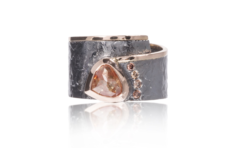 The Jewel - Elizabeth Garvin - Lookbok - Gray and Rose Gold Wrap Ring