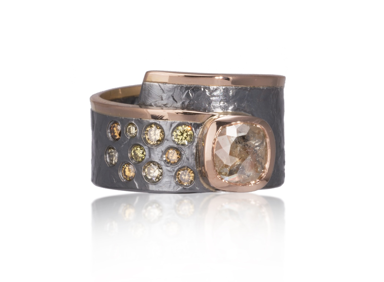 The Jewel - Elizabeth Garvin - Lookbook - Bronze Lined Wrap Ring