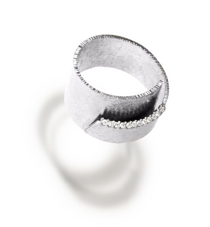 The Jewel - Elizabeth Garvin - Lookbook - Silver and Diamond Wrap Ring