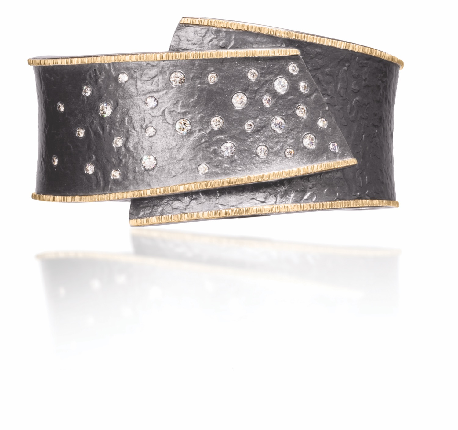The Jewel - Elizabeth Garvin - Lookbook - Gold, Silver and Diamond Wrap Ring