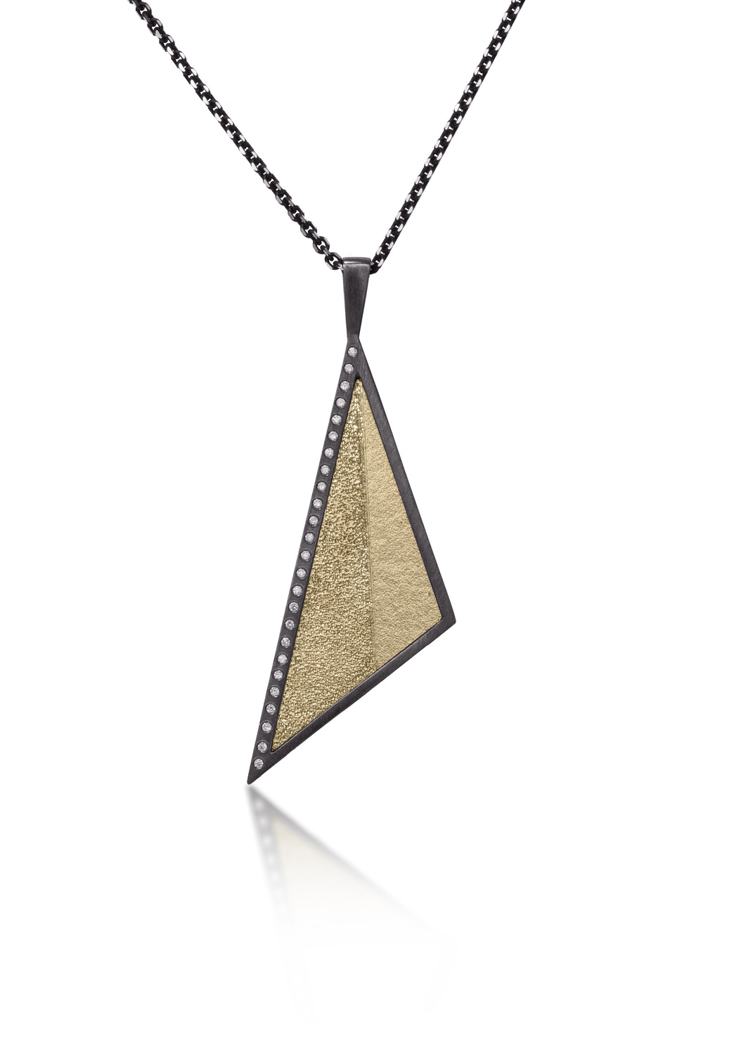 The Jewel - Elizabeth Garvin - Lookbook - Gold and Silver Triangle Necklace