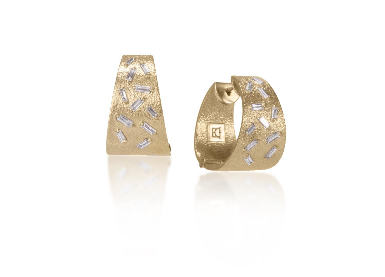 The Jewel - Elizabeth Garvin - Lookbook - Gold and Diamond Hoop Earrings