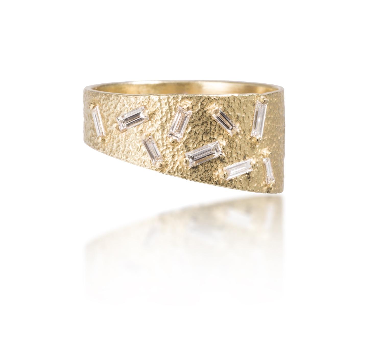 The Jewel - Elizabeth Garvin - Lookbook - Gold Asymmetrical RIng