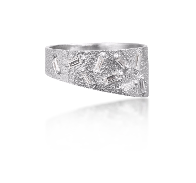 The Jewel - Elizabeth Garvin - Lookbook - Silver Asymmetrical Ring