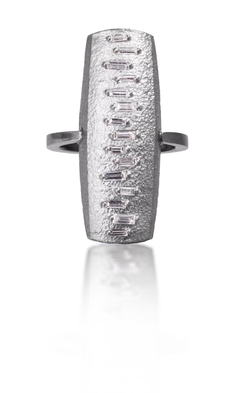 The Jewel - Elizabeth Garvin - Lookbook - Silver Rectangle Ring