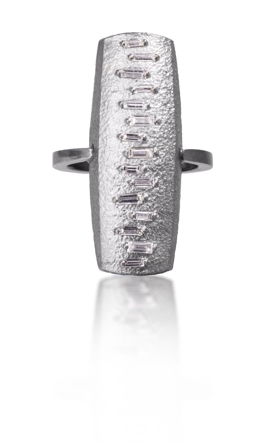 The Jewel - Elizabeth Garvin - Lookbook - Silver Rectangle Ring
