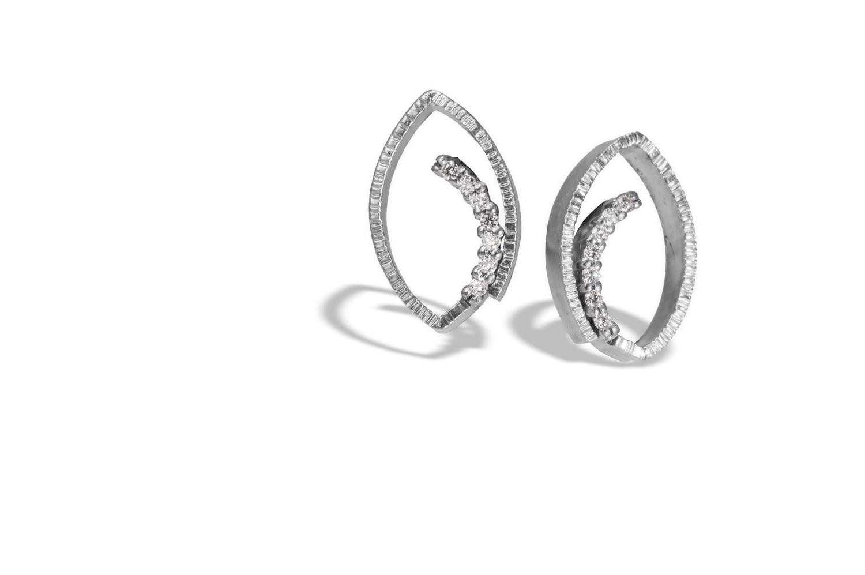 The Jewel - Elizabeth Garvin - Lookbook - Silver Swirl Earrings