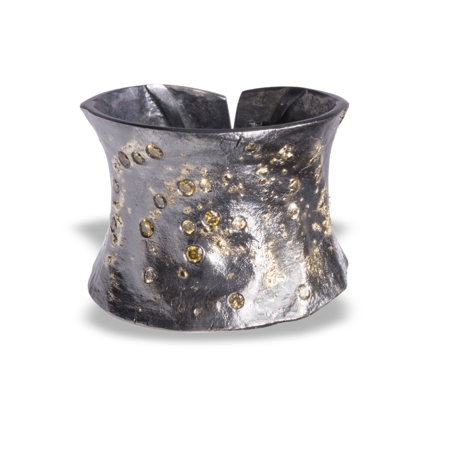 The Jewel - Elizabeth Garvin - Lookbook - Silver and Gold Cuff Bracelet