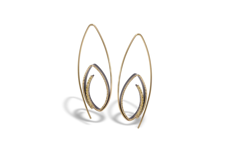 The Jewel - Elizabeth Garvin - Lookbook - Gold Swirl Earrings