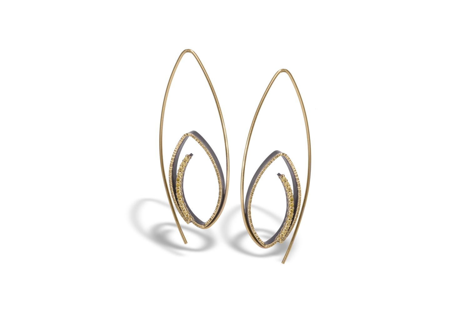 The Jewel - Elizabeth Garvin - Lookbook - Gold Swirl Earrings