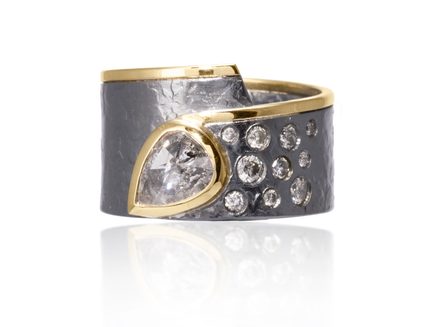 The Jewel - Elizabeth Garvin - Lookbook - Gray and Gold Studded Wrap Ring