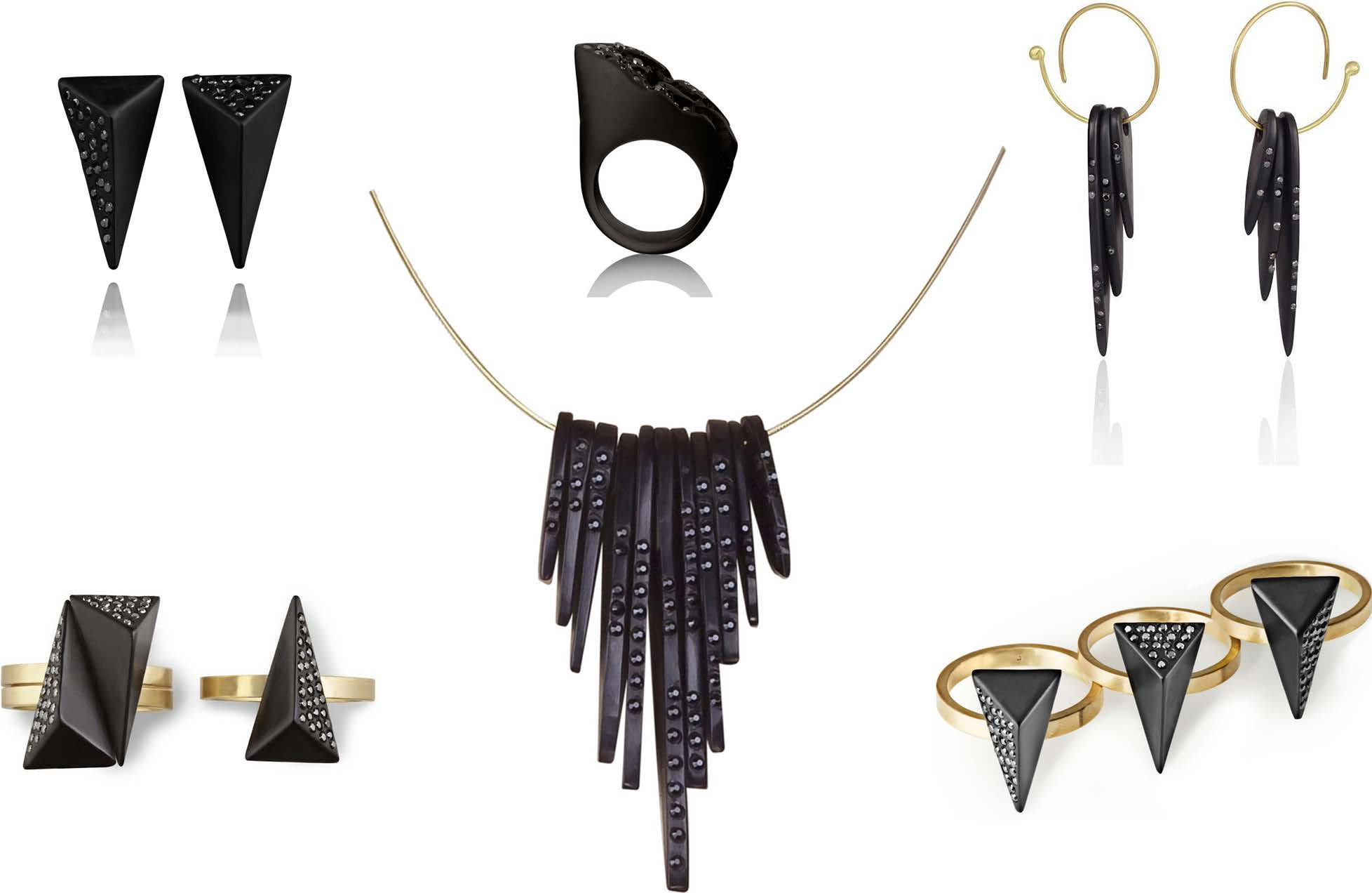 The Jewel - Jacqueline Cullen - Lookbook - Black and Gold Jewelry