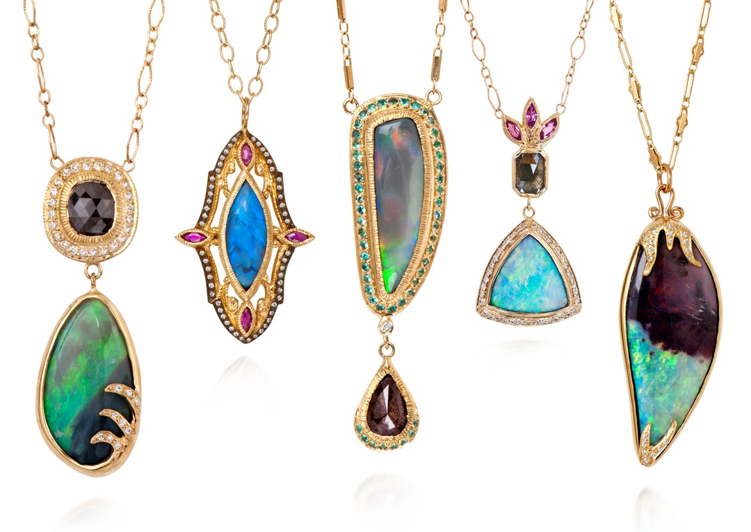 The Jewel - Just Jules - Lookbook - Colorful Gold Necklaces