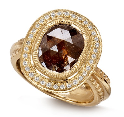 The Jewel - Just Jules - Lookbook - Gold and Brown Ring