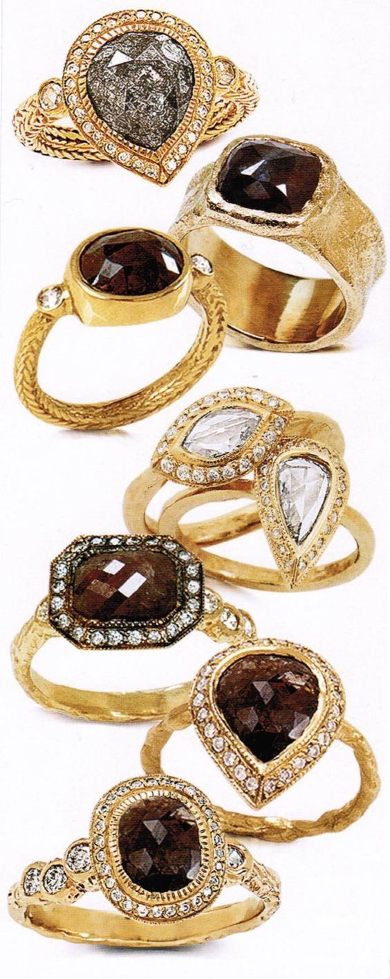 The Jewel - Just Jules - Lookbook - Brown Diamond Gold Rings