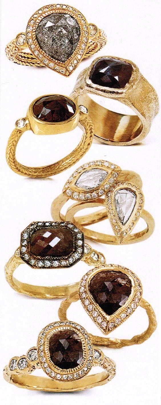 The Jewel - Just Jules - Lookbook - Brown Diamond Gold Rings