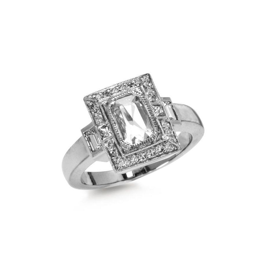The Jewel - Just Jules - Lookbook - Silver Square Diamond Ring