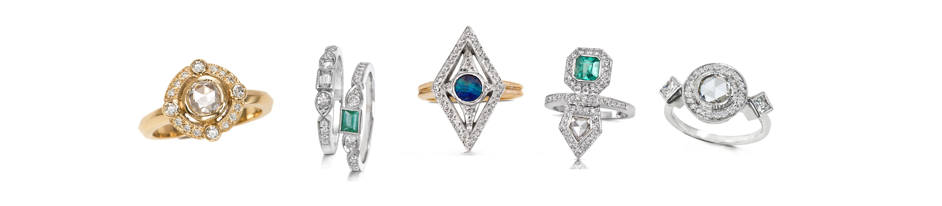 The Jewel - Just Jules - Lookbook - Gold Blue Silver Rings